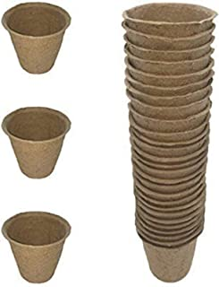 Kle/Garden.Dep. Pack of 30 Biodegradable Peat Pots Seed Planters, Seed Starting Pots