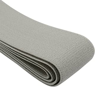 iCraft 2-Inch Wide by 2-Yard Colored Double-side Twill Elastic Band-Grey 11120