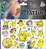 Autocollants de peau de tatouages temporaires Pokemon (plus de 100 modèles), anniversaire pour garçons filles enfants fournitures scolaires, accessoires de fête, cadeaux autocollants pour enfants