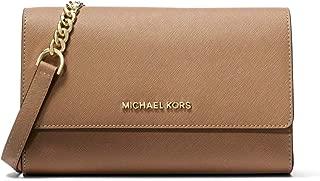 Michael Kors Jet Set Travel Women's Saffiano Leather Cross Body Bag - Dark Khaki