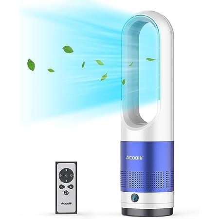 Ventilateur Colonne, Ventilateur Tour Oscillant à 80° avec Télécommande, Nettoyage Facile, 8 Vitesses, Minuterie de 8 Heures, Écran LED, Ventilateur Silencieux pour Chambre à Coucher, Salon, Bureau