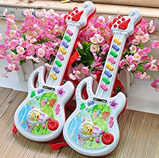 Baby Novelty Toy Baby Kids Toddler Musical Guitar Electronic Guitar Toys(Colorful)
