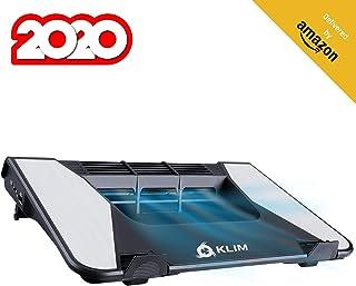 KLIM™ Airflow + Entra Aire frío, Sale Aire Caliente + La Mejor refrigeración para tu portátil + Turbina de Flujo Cruzado para Mayor Rendimiento + Materiales de Calidad, 5 años de garantía + 10-17