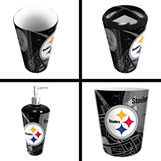 The Northwest Company Pittsburgh Steelers NFL 4 Piece Bathroom Decorative Set (Scatter Series)