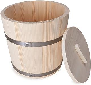 Bütic GmbH Seau en bois avec couvercle – Seau à infusion – Pot à fermentation – Pot à concombre – Article : 15 l