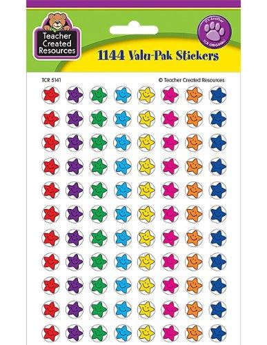 teacher created resources Mini pegatinas Valu Pack, Smiley estrellas (5141)