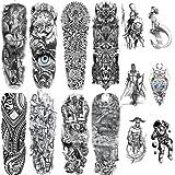 14 Pegatinas De Tatuaje Temporal (8 Pegatinas De Tatuaje De Brazo Completo Para Hombres Y Mujeres) '6 Pegatinas De Tatuaje De Medio Brazo Para Hombres Y Mujeres'