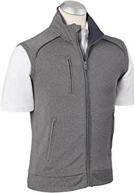 Bobby Jones Xh2o Denali Water-Repellent Full Zip Vest Graphite Heather Xx-Large