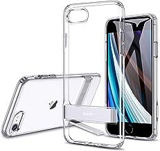 ESR iPhone SEケース 第2世代 iPhone8ケース iPhone7ケース 2020 新型 メタルキックスタンドケース [縦置き&横置き対応スタンド] [落下保護性能UP] 全面保護 Qi急速充電対応 柔軟性抜群TPUソフト背面 – クリア