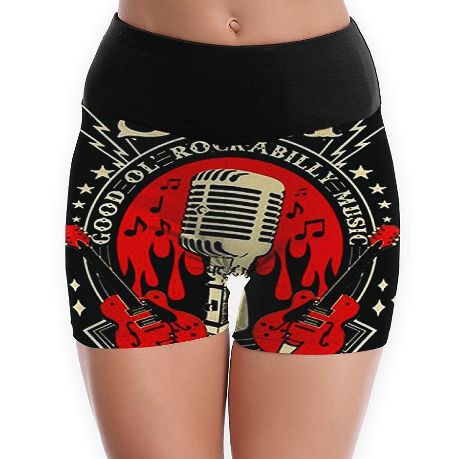 熱帯の制裁倫理女性のヨガ春夏秋冬ショーツ Sun Records Electric Mic Music 成人女性のための屋内ヨガのためのショーツ、スリムショーツ、室内でヨガの体操をする