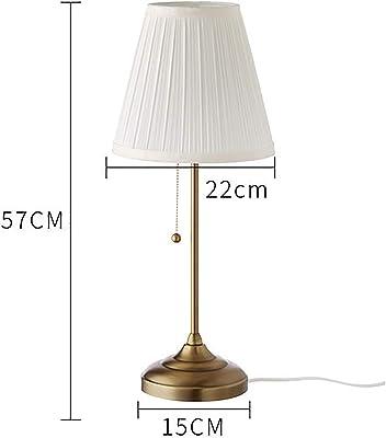 小型テーブルランプ、寝室のベッドサイドランプテーブルファブリックランプシェード拡散照明を作成する