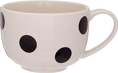 Kate Spade New York 879393 Deco Dot Black Latte Mug