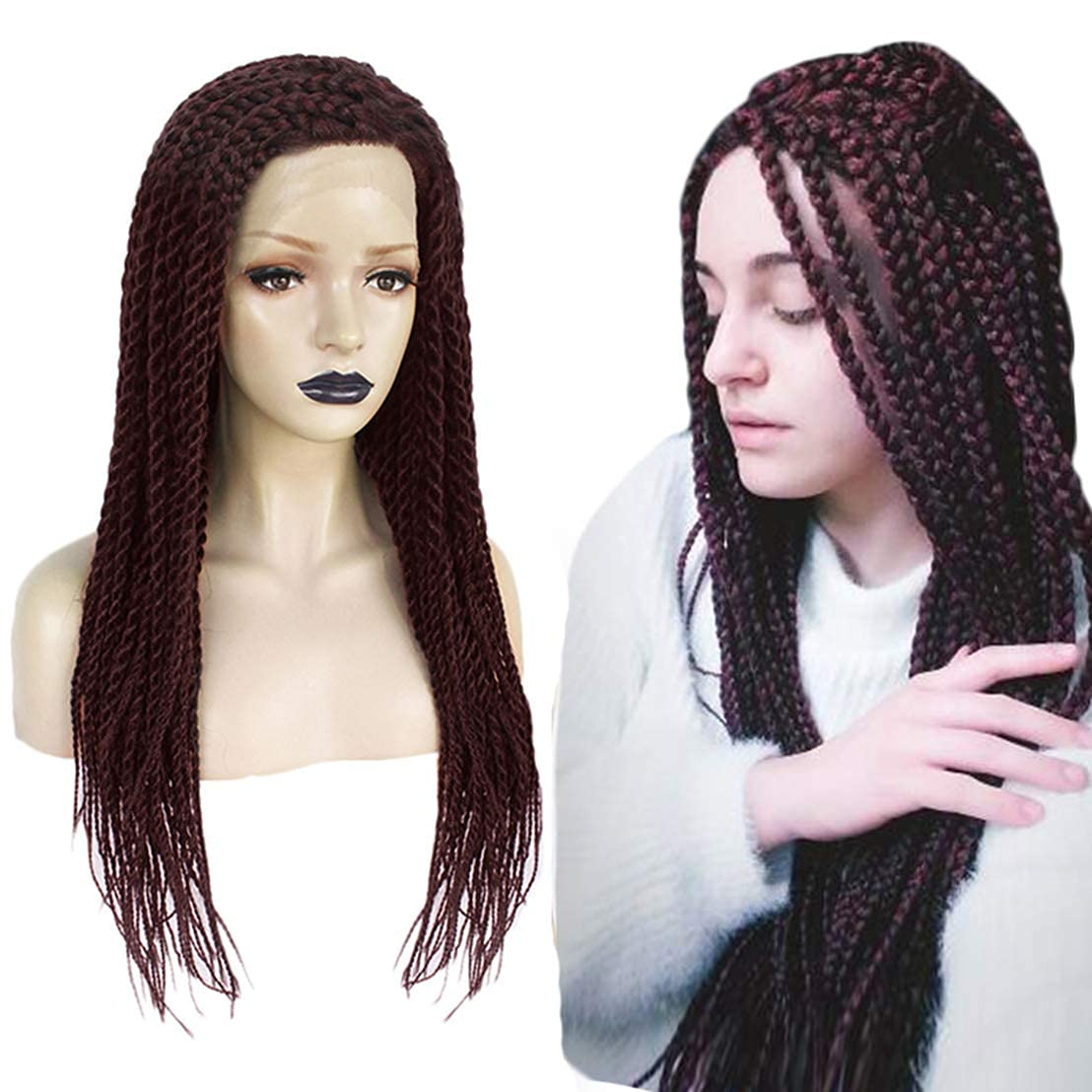 Jsmhh Braided Kansas City Max 42% OFF Mall Wigs Box Braid for Women Wig Black