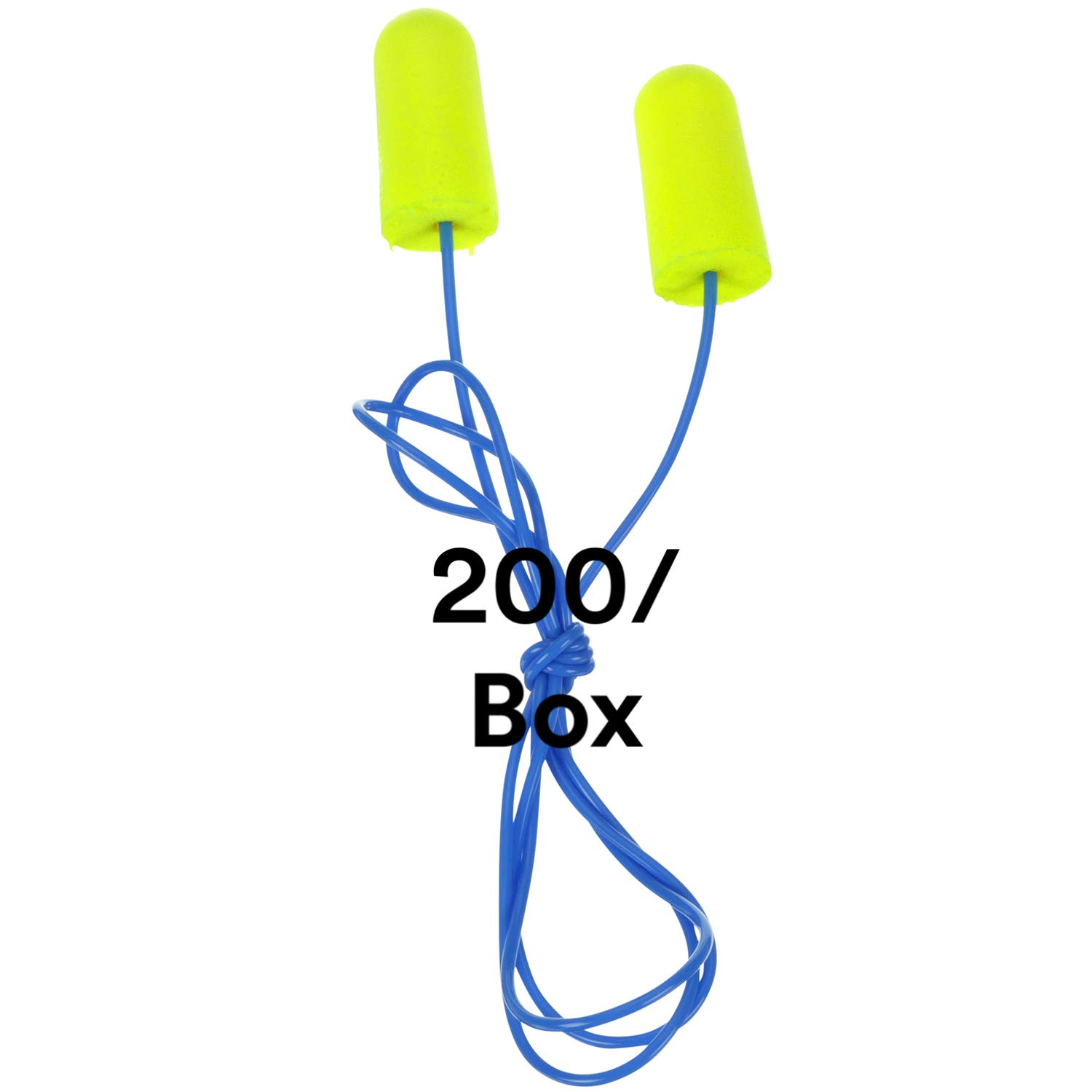 3M Ear Plugs 25% OFF 200 Online limited product Box Yellow E-A-Rsoft Corded Neons 311-1250