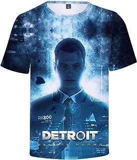 Men's T-Shirt Detroit: Become Human Boy's Short Sleeve Summer Unisex Crewneck Pullover Gaming Sport Shirt Tee