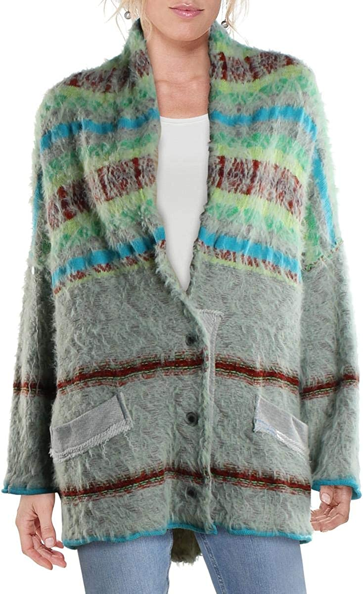 Animer and price revision Baltimore Mall Free People Womens Fair Weather Swea Mixed Cardigan Stripe Media