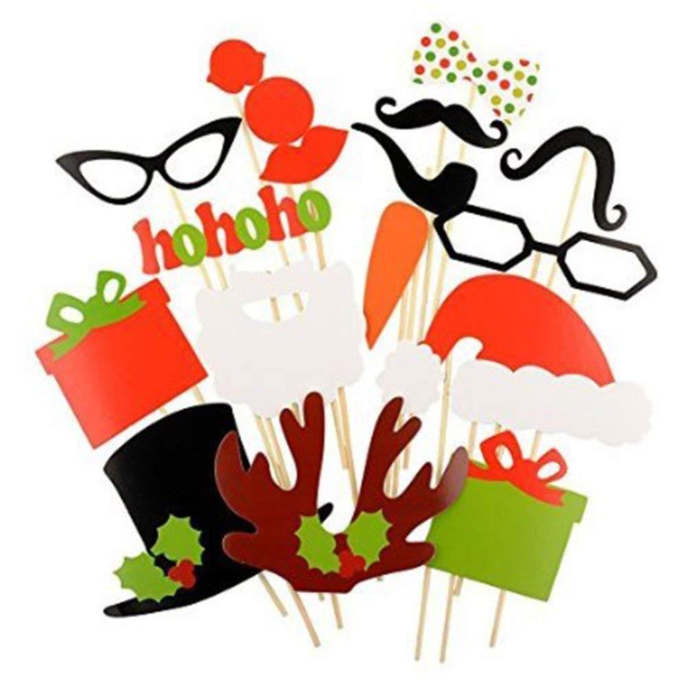 AKORD Accesorios navideños para photocall, Multicolor, (Pack de 17): Amazon.es: Hogar