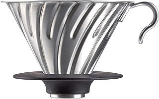 Hario 1 del rostfritt stål metall kaffedroppare, svart_förälder SILVER