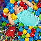 XHONG Pit Ball, 50 piezas de 5,5 cm colorido plástico suave para nadar pozo de bolas para bebés o niños pequeños, Túneles para interiores y exteriores