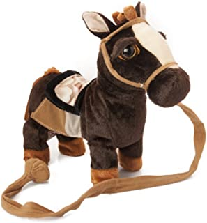 My First Pony, Walk Along Toy Stuffed Plush Pony Toy, Realistic Walking Actions with Horse Sounds and Music