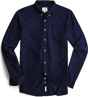 Men's Oxford Long Sleeve Button Down Casual Dress Shirt