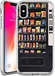 LingHan Vending Machine iPhone X Case iPhone Xs Case iPhone 10 Case Clear and Transparent Frame UV Printing Anti-Scratch Shockproof Cellphone Case 1X