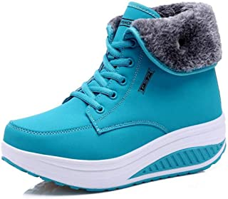 2019 frühjahr Hohe Plattform Stiefel 12 CM Hohe Ferse Frauen Dicke Sohle Schuhe Leder Keil Turnschuhe Wasserdicht Atmungsaktiv Casual Schuhe