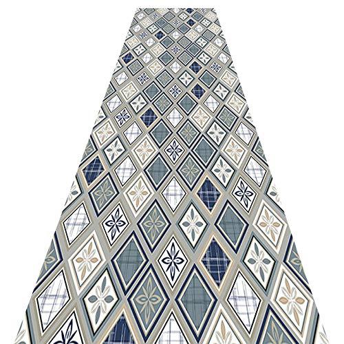 LIFFMallJC Teppich Läufer Für Flur, Küche Schlafzimmer Wohnzimmer, Geometrische rutschfeste Teppiche (Color:EIN,Size:0.6X5M)