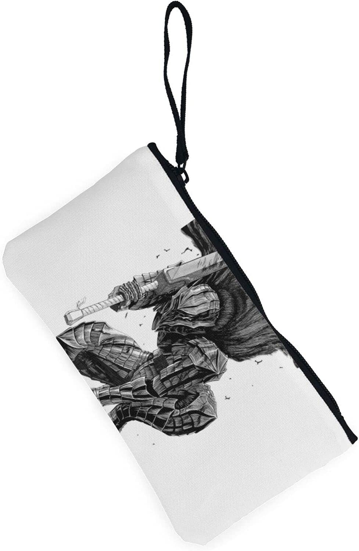 AORRUAM Berserk Warrior Canvas Coin Purse,Canvas Zipper Pencil Cases,Canvas Change Purse Pouch Mini Wallet Coin Bag