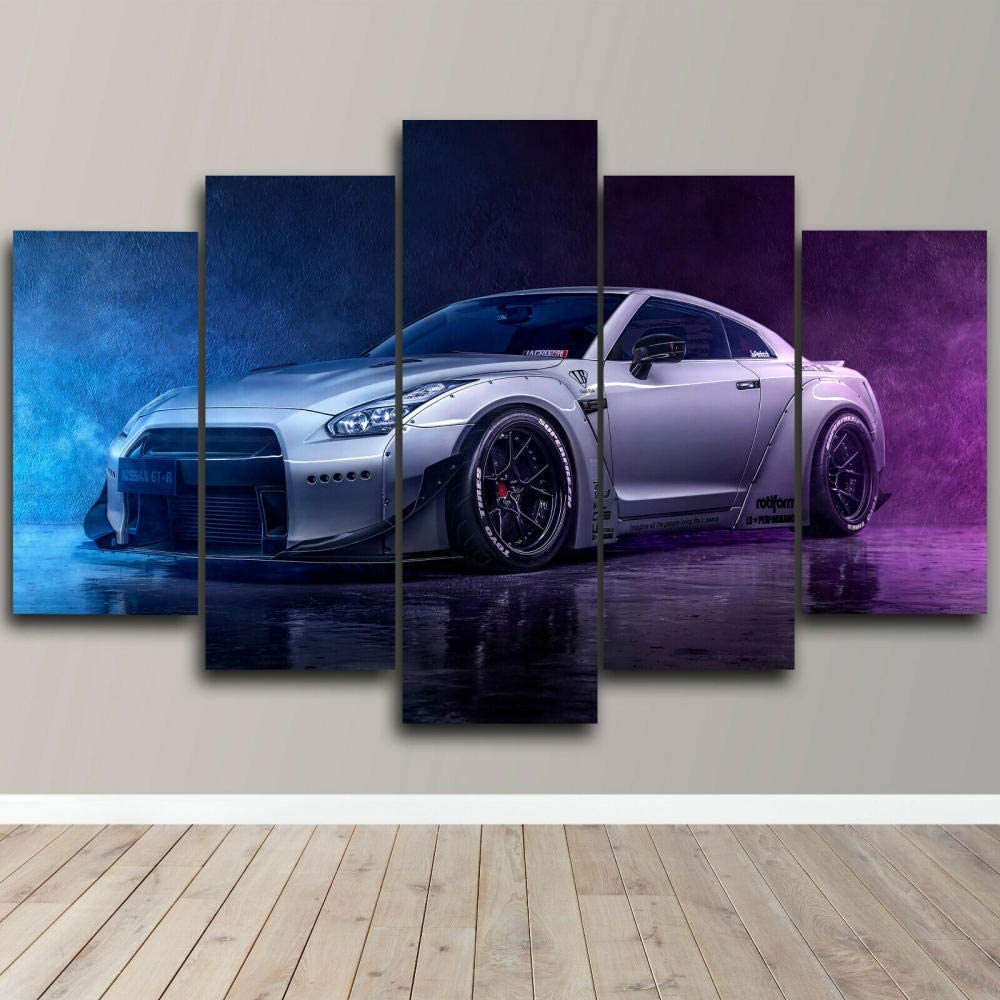 XEMI 5 Piece CanvasWall Art Framed Modern Panel At the price of surprise Car All stores are sold Sports Abs