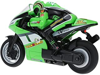 eMart Hign Speed 3CH RC Motorcycle Autobicycle with Gyroscope Remote Control Car Vehicle Electric Model Toy- Green