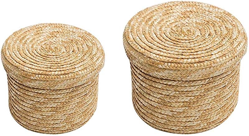 Betfandeful Woven Storage Basket Wheat Storage Basket For Clothes Books Etc Cover Design