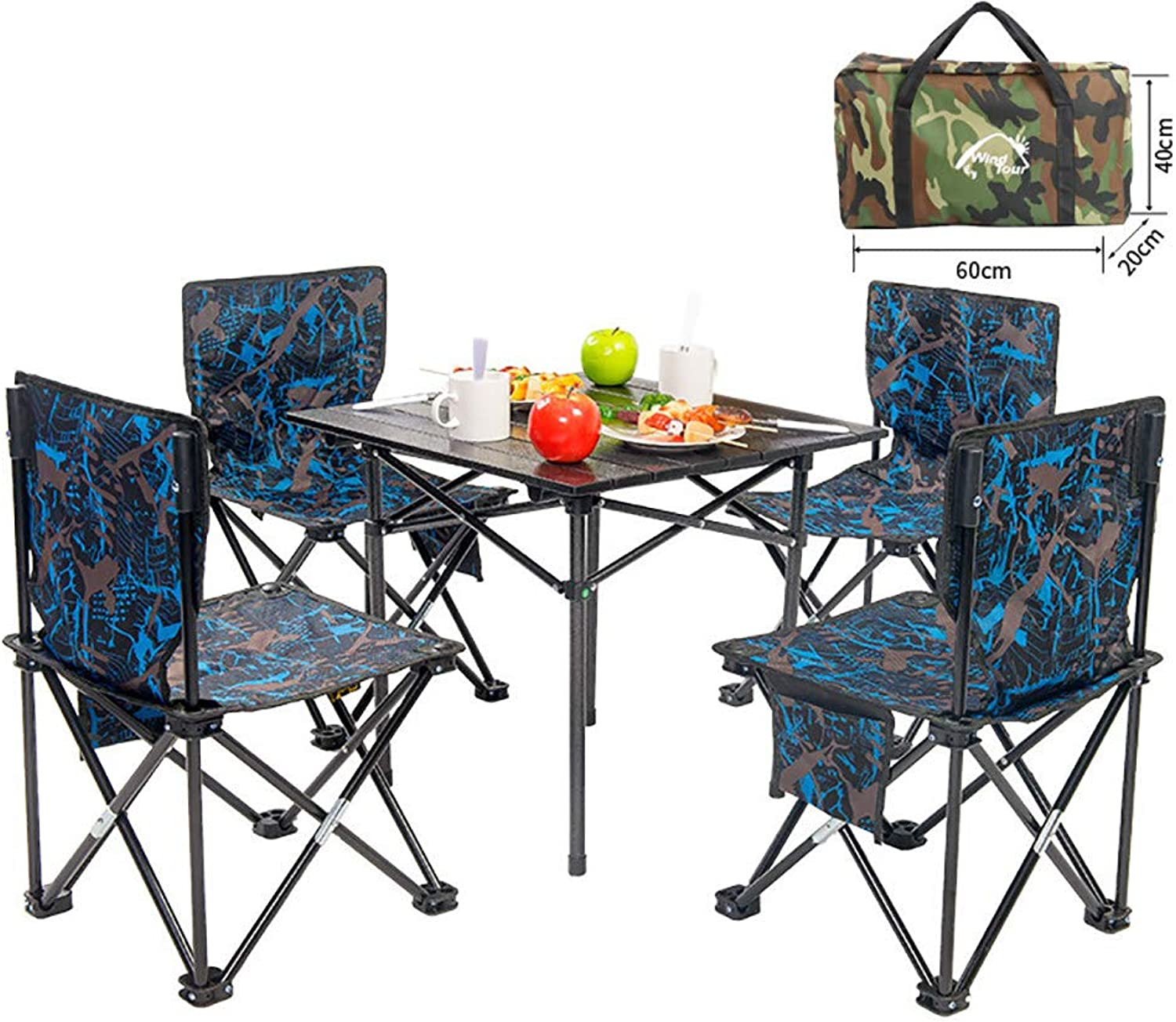Aluminum Folding Table, Easy to Clean, Picnic Light, Camp, Beach, Barbecue, Hiking, Travel, Fishing,A