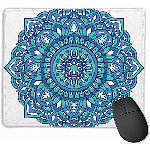 Oriental Mandala Turquoise Ornament Template The Arts Mouse Pad Mousepad Gaming Mouse Pad