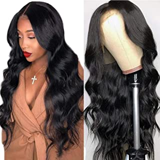 Lace Front Human Hair Wigs for Women Pre Plucked Hairline 150% Denisty Brazilian Body Wave Lace Front Wigs with Baby Hair Natural Color … (20Inch, 150% denisty)