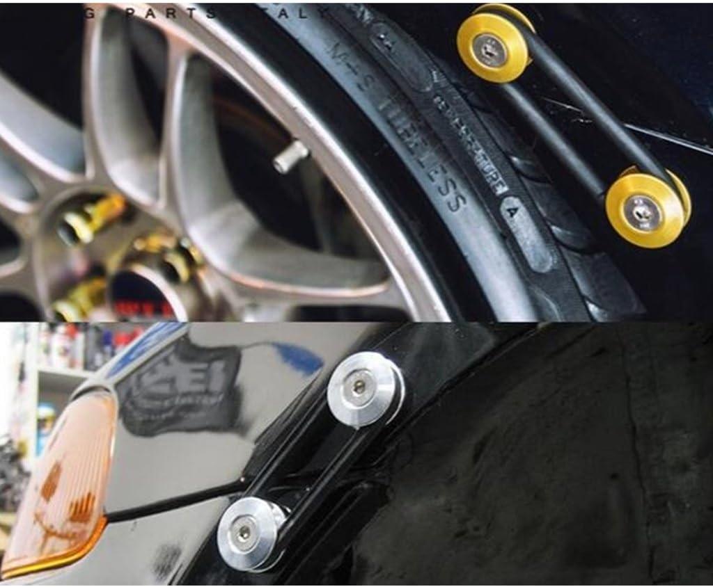 JDMSPEED Blue Universal CNC Billet Bumper Trunk Quick Release Fastener Kit