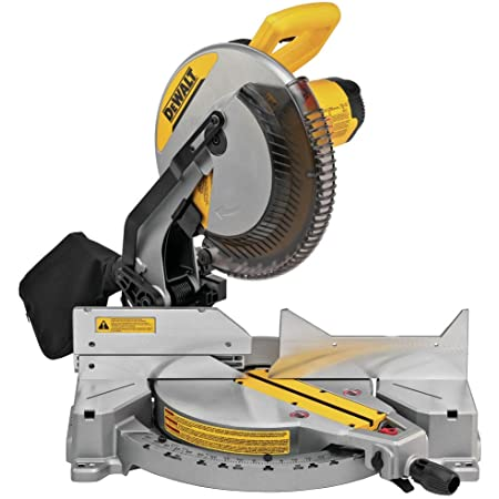 DEWALT 12-Inch Miter Saw, 15-Amp, Single Bevel, Compound (DWS715)