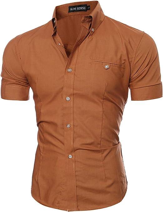 Camisas Casuales,Camisa de los Hombres Slim-Fit Camisas de ...