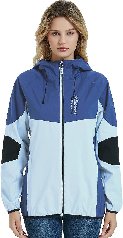 Women's Waterproof Rain Jacket Raincoat Great Rapid rise interest Outdoor Lightweight Hood