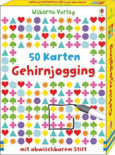 Gehirnjogging: 50 Karten mit abwischbarem Stift