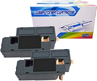 Inktoneram Compatible Toner Cartridges Replacement for Dell 1250c 1350cnw 1355cn 1355cnw C1760nw C1765nf C1765nfw 332-0407 (Black, 2-Pack)