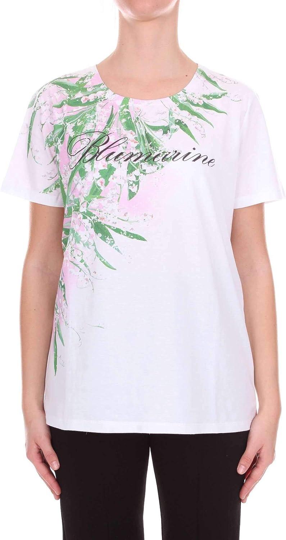 bluemarine Women's 13524107 White Cotton TShirt
