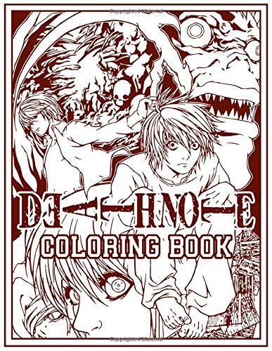 Death Note Coloring Book: Confidence And Relaxation Death Note Coloring Books For Adults, Boys, Girls Relaxation And Stress Relief