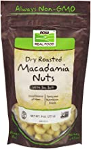 NOW Foods, Macadamia Nuts, Dry Roasted with Sea Salt, Source of Fiber, Gluten-Free and Certified Non-GMO, 9-Ounce (Packagi...