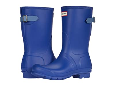 Hunter Original Short Back Adjustable Rain Boots (Cuttle Blue/Gill Wave) Women