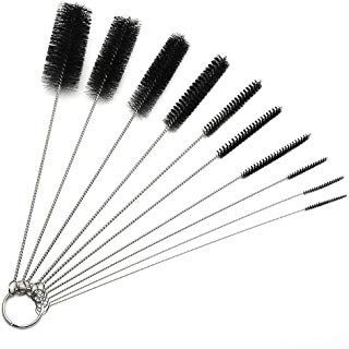 Nylon Tube Brush Pipe Cleaning Brushes for Drinking Straws Glasses Keyboards Jewelry Cleaning,Pack of 10