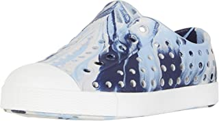 Native Kids Shoes Jefferson Marbled (Toddler/Little Kid) Washed Blue/Shell White/Marbled 7 Toddler
