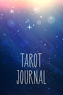 Tarot journal: A daily reading tracker and notebook: Track your 3 card draw, question, interpretation, notes: Galaxy blue and white cover design