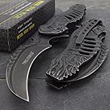 Tac-force Spring Assisted Open Skull Skeleton Claw Folding Blade Pocket Knife (Original Version)