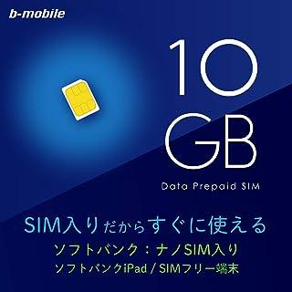 日本通信 b-mobile 10GBプリペイド(SB/iPad用ナノ) BS-IPAPC-10G1MN